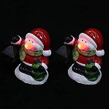 ibasenice 2 Stuks Christmas Night Lamp Decoraties Xmas Desktop Versieringen Geschenken (Een)