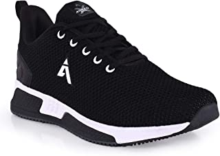 Athleo by Action Men Black Sports Running Shoes