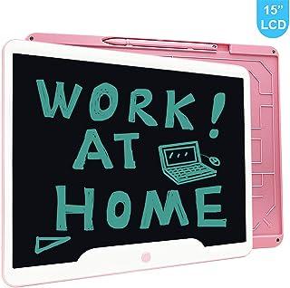 Richgv 15 Pulgadas Tableta Gráfica Tablets de Escritura LCD Portátil Tableta de Dibujo Adecuada para el hogar Escuela Oficina Cuaderno de Notas 1 año de garantía (Rosa)