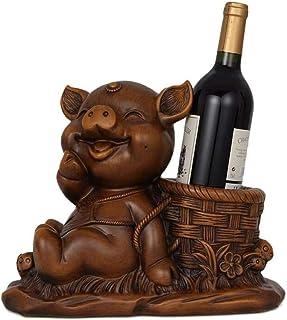 Bedom wallpaper Une Bouteille de Bureau de Table casiers à vin Dessin animé Cochon résine décorations pour Animaux Maison ...