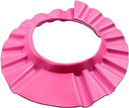 BESTOMZ Baby Shampoo Schutz, einstellbare Bad Schutz Duschhaube für Baby Kinder (Rosa)