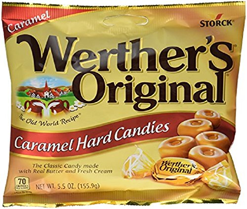Werther's Original Hard Candies, 5.5-Ounce Bags (Pack of 12)