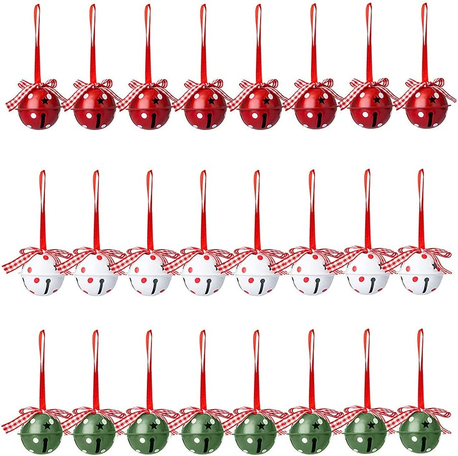 Beerty Christmas New color Decorations - 24 Pcs White Green Cheap sale and Red Christ