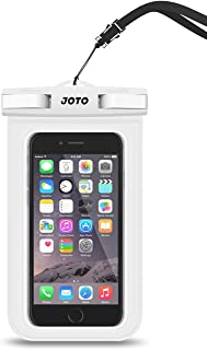 "JOTO Waterproof Pouch Phone Dry Bag Case for iPhone 11 Pro Max XS Max XR X 8 7 6S, Galaxy S10 Plus S10e S9 S8 + Note 10+ 10 9 8, Pixel 4 XL up to 6.8"" -White"