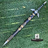 Knives Remembered Monogram Sword, Custom Sword, Personalized Sword, Engraved Sword, Legend of Zelda Master Sword Skyward Limited Edition Deluxe Replica (Black)