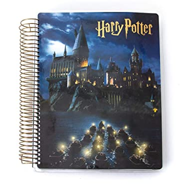 Paper House PL2004E Life Organized 12-Month Undated Planner -Harry Potter Hogwarts at Night