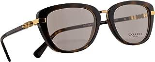 Coach HC 6106B Eyeglasses 50-19-135 Dark Tortoise Gold w/Demo Clear Lens 5453 HC6106B