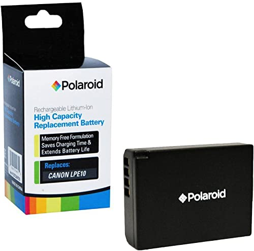 discount Polaroid High Capacity discount Canon LPE10 Rechargeable Lithium Replacement Battery (Compatible With: EOS Rebel T3 online ) online sale
