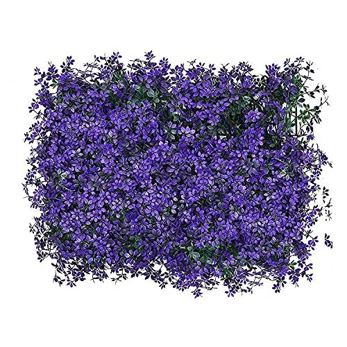 GPWDSN Pantalla de Hojas Artificiales, brotes de Flores Paneles de Cobertura de Hojas Seto de Madera Enrejado retráctil Valla de protección Rollo Decoración de jardín Pantalla de privacid