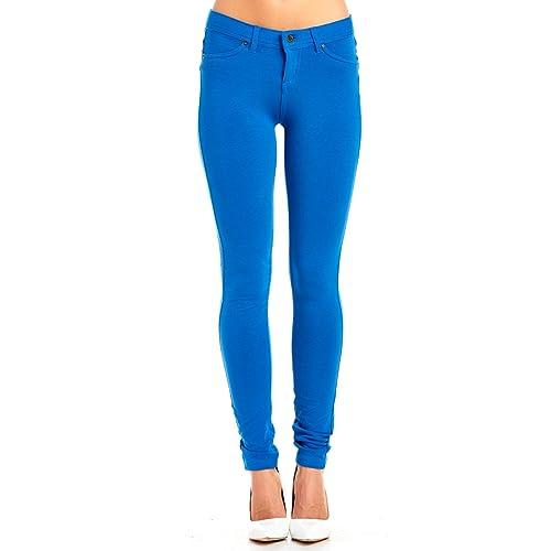 bc5ebe9eeb6fd La Bijou Womens LABIJOU French Terry Basic Jegging Skinny Pants 511S