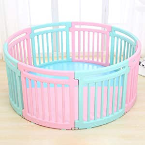 GHMOZ Children s Indoor Play Fence Baby Safety Toddler Crawling Fence Baby Home Playground Toy Child Fence  Color Multi-colored