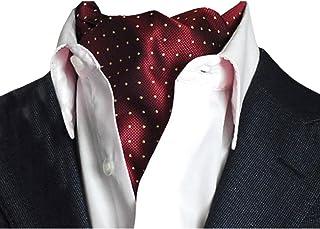 YCHENG Herren Krawattenschal Elegant Blumenkleid Ascot Seidenschal Paisley Jacquard Anzug Zubehör