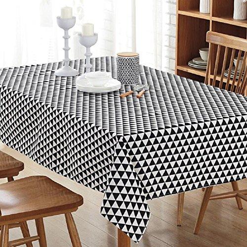 LD&P Europese eenvoudige gestreepte canvas tafelkleed kunst verse rechthoekige tafel tafelkleed salontafel tafelkleed tafelkleed, multifunctionele rechthoekige tafelkleed