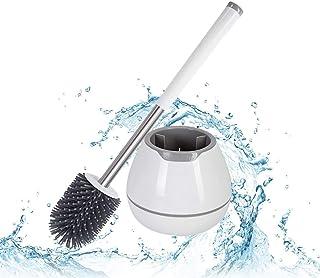 Yocada Brosse de toilette Durable brosse en Silicone souple en caoutchouc facile enlever les taches et repérer la salle de...