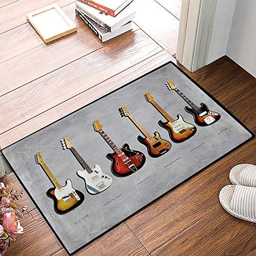 QDYLM Alfombra de baño de Microfibra esponjosa,Fender Stratocaster Telecaster Bass de precisión...