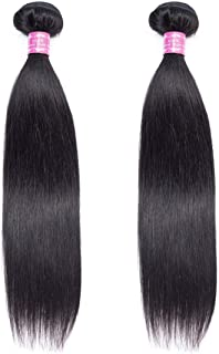 Brazilian Hair Straight 2 Bundles 100% Unprocessed Virgin Human Hair Bundles Weave Natural Color (10/10 Inch)
