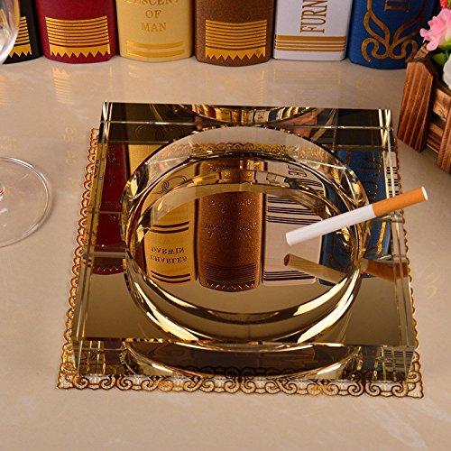 SDKIR-King grootte Hotel KTV asbak asbak woonkamer salontafel vierkant kristal glas creatieve mode Europese stijl geschenken