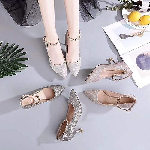 HOESCZS Talons Hauts Nouveau Printemps Chaussures à Talons Hauts pour Femmes Chaussures à La Mode