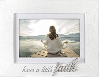 Malden International Designs 3402-46 Have A Little Faith, 4x6 with mat/ 5x7' without the mat, White