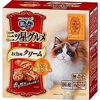 【ケース販売】銀のスプーン 三ツ星グルメ お魚味クリーム まぐろ・鶏ささみ味 180g×12コ