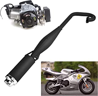 47cc 49cc 2 Stroke Engine Pocket Bike Mini Quad Exhaust Pipe Muffler with Expansion Chamber