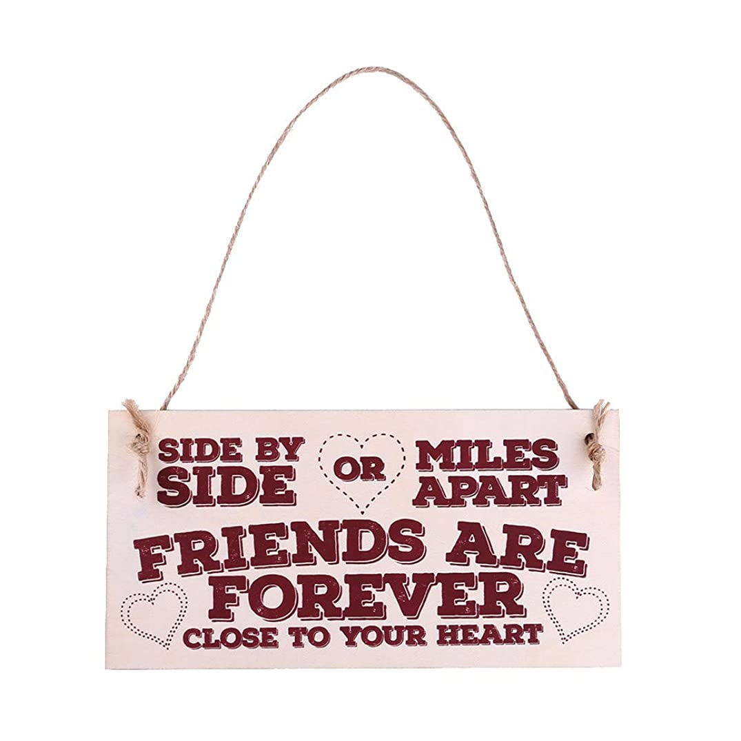 Clearance Sale!DEESEE(TM)????Sign Board Best Friend Friendship Gift Chic Spending Heart Thank You Decoration (C)