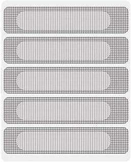 mecoco 網戸補修テープ メッシュタイプテープ 網戸パッチ 網戸補修シート 網戸の破れを張るだけで簡単補修 自由裁断 強粘着性 防水 虫を避け【15*62mm 5枚入】