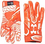 Under Armour Men's F5 Football Receiver Gloves, Dark Orange/White, Medium