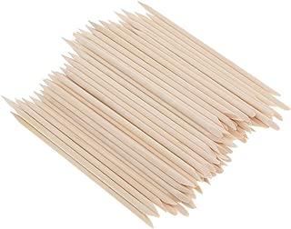 Blesiya 100 PCS Orange Wood Sticks Nail Art Cuticle Stick For Manicure Nail Tool Kit