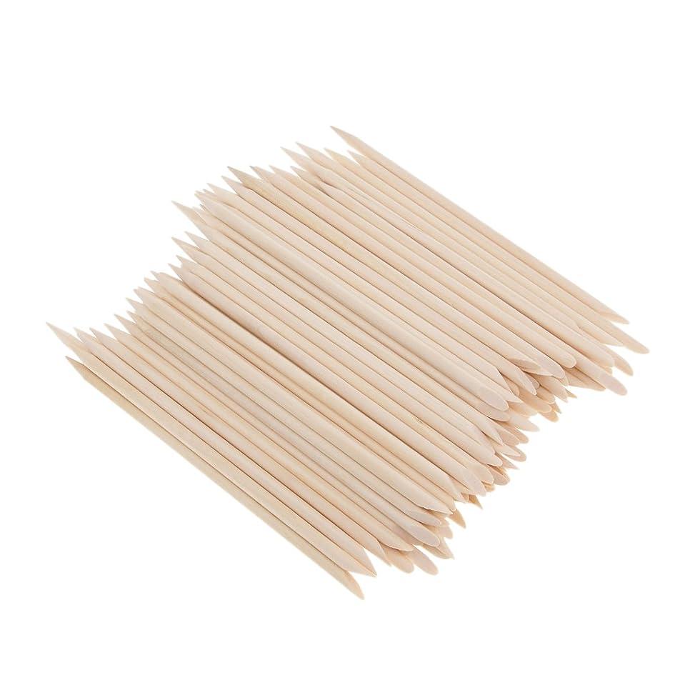 プレート実験韻Perfeclan 約100個 爪リムーバー ウッドスティック ネイルアート 木のスティック キューティクルプッシャー リムーバー マニキュアツール