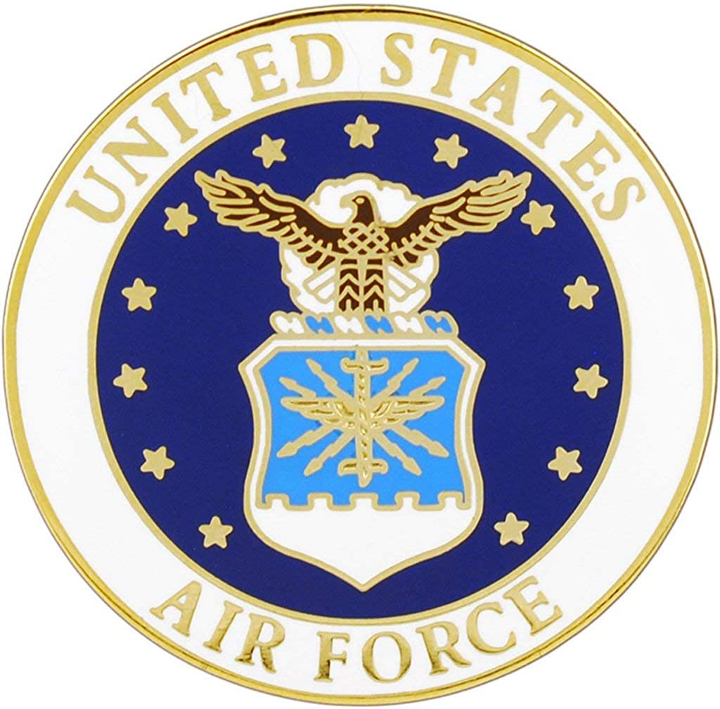 United States Air Force Logo Medal Pin Military Commemorative Collectibles, Patriotic Gifts for Veterans