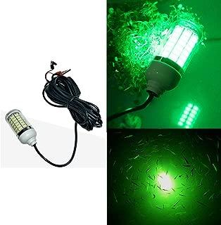 EBD Lighting Underwater Fishing LED Light 15w,12v,Green Light IP68 Waterproof Lamp 360 Degree All-Round Underwater Lighting Fish Light Collection Fish Lamp for Underwater Lighting, Night Fishing, Lure
