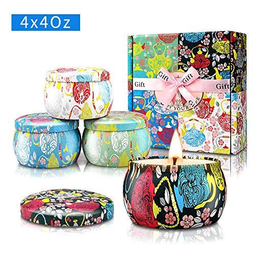 YMing Geurende Kaarsen Gift Set, Aromatherapie Kaars voor haar, Women's Gift voor Stress Relief Verjaardag Bad Yoga Verjaardagsfeestje verjaardag