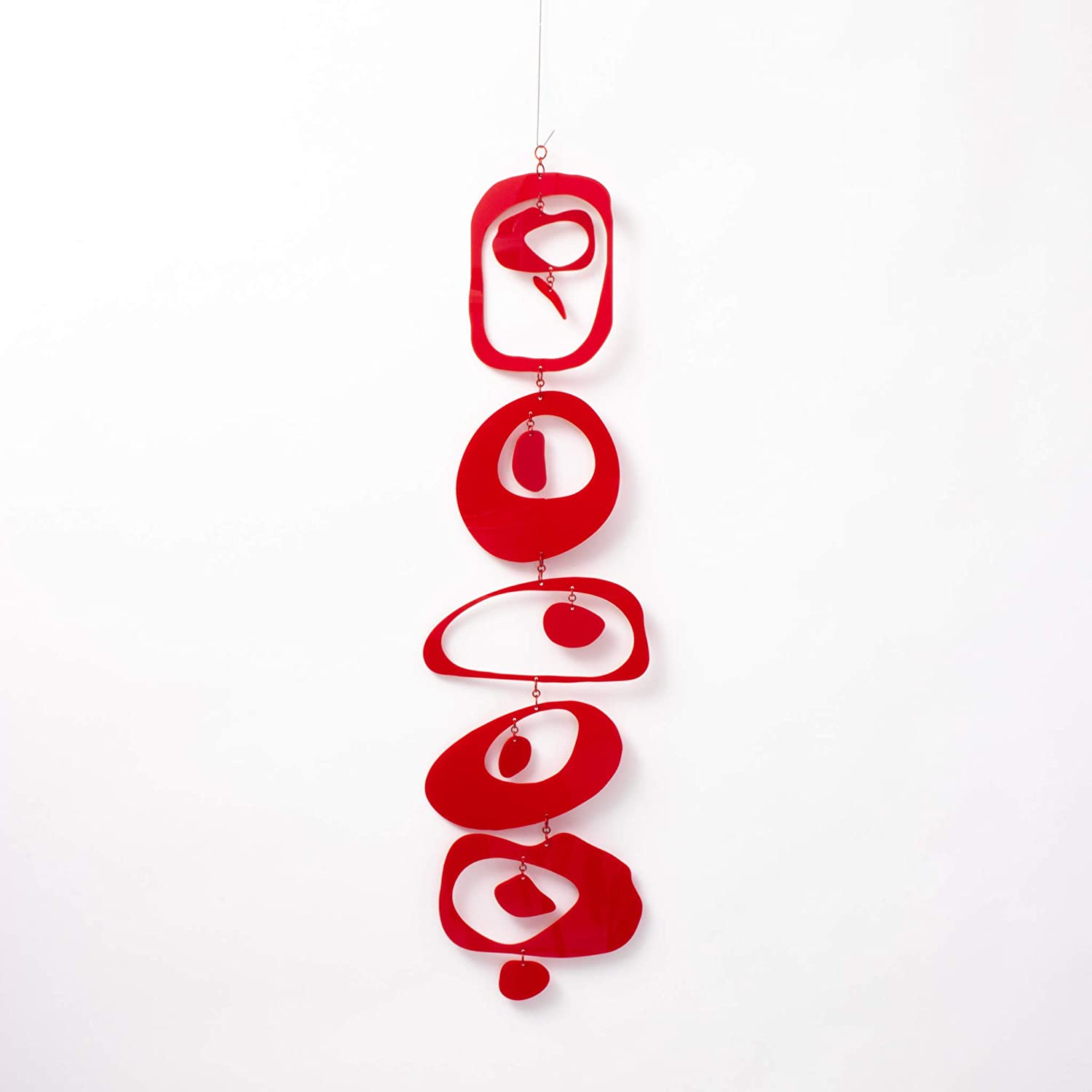 Zen Mobile - Red Calm Mindfulness Art Mobil Decor Hanging Max 81% OFF Max 59% OFF Home