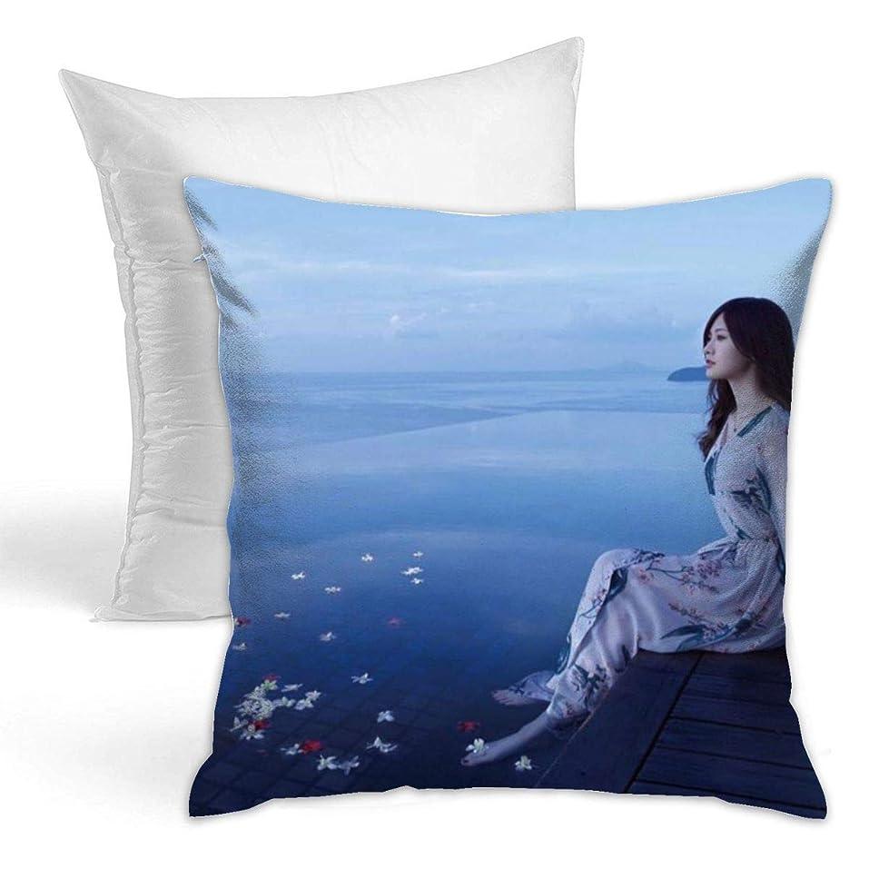 最愛の親愛なスクリーチしらいし まい(Shiraishi Mai) 装飾枕両面タイプ 抱き枕 ソファ 抱き枕 ランバー枕 座布団 スロー枕 クッション 装飾的な枕 42 X 42cm