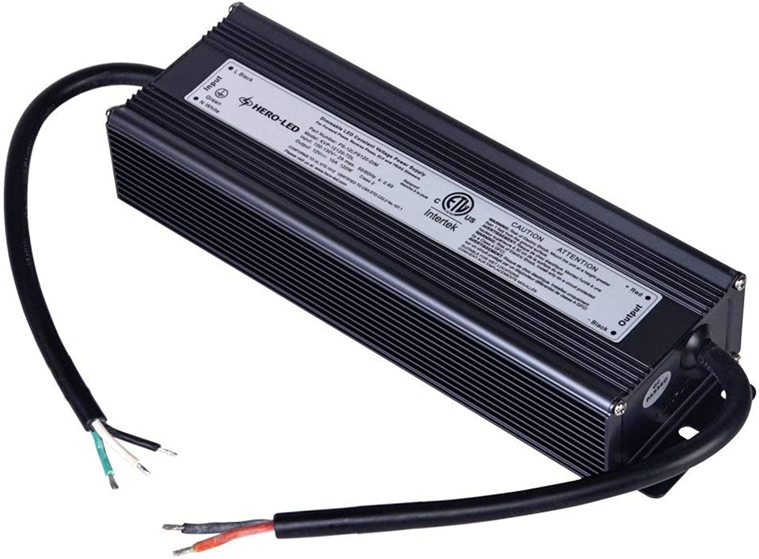 HERO-LED PS-12LPS120-DIM ETL-listed Dimmable LED Constant Voltage Power Supply - Dimmble LED Transformer 12V DC, 10A, 120W