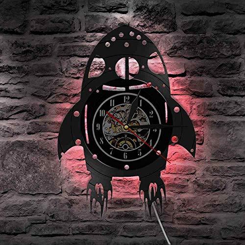 wtnhz Reloj de Pared con Disco de Vinilo LED Reloj de Pared con Disco de Vinilo Reloj De Pared De Vinilo Barber Shop Reloj de Pared con Disco de Vinilo