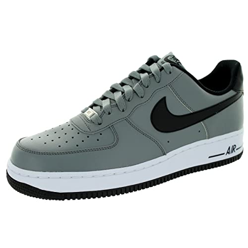 d01cc3b1a6bd4 Nike Men s Air Force 1 Cool Grey Black White Basketball Shoe 8.5 Men US