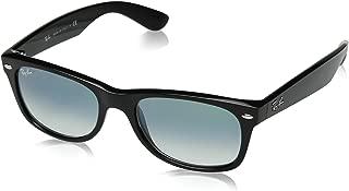 RB2132 New Wayfarer Sunglasses, Black/Green Gradient, 52 mm