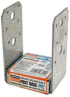 Simpson ABU44Z ZMAX Galvanized 16-Gauge 4x4 Adjustable Post Base 12-per box