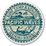 Keen Waikiki Hawaii Surf Camp Vinyl Decals Stickers (Two Pack!!!)|Cars Trucks Vans Walls Laptops|Printed Color|2-4 in Decals|KCD564