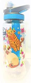 COOL GEAR Freeze BPA Free Water Bottle with Freeze Stick 32oz Kittens