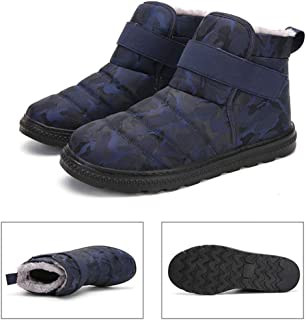 Women's Short Snow Boot,Winter Large Size Warm Ankle Boots Waterproof Non-Slip Outdoor Shoes for Couple