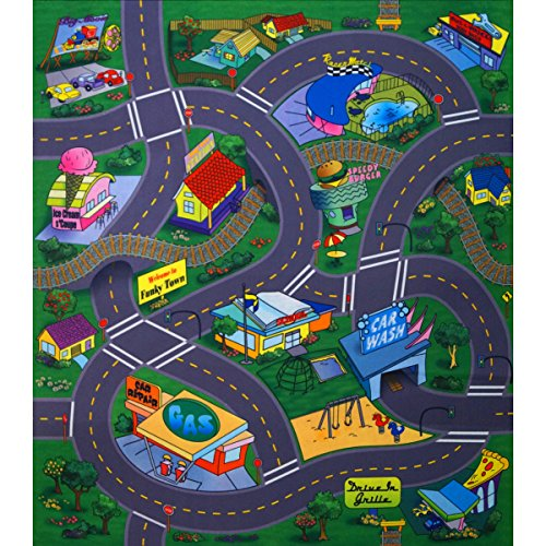 Unbekannt Tapis de Jeu Motif Funky Town 70 x 80 cm