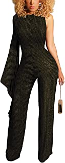 Women's Sexy Sparkly Jumpsuits Clubwear V Neck Long...