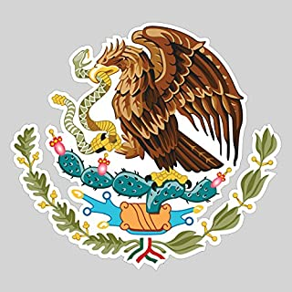 Large Mexican Coat of Arms Sticker FA Graphix Vinyl Decal Mexico