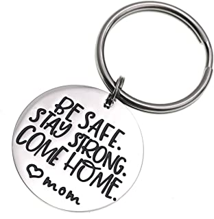 LParkin Deployment Keychain Be Safe Stay Strong Come Home Love Mom Grandma Sister Wife Marines Military (Keychain)