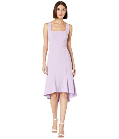 Donna Morgan Sleeveless Square Neck Crepe Dress (Lilac) Women