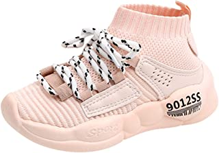 Shoes Sneaker Trainers for Kids, Korean Version of Lace-Up Knitting Trainers, Breathable Non-Slip Running Walking Shoes Child, FULLSUNYY