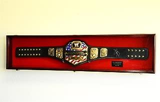 WWE WWF Wrestling Championship Adult Size Belt Display CASE Frame Cabinet Box 54